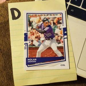 Nolan arenado baseball card